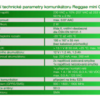 (Čeština) Technické parametry Reggae mini GTbz