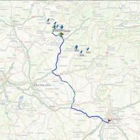 (Čeština) Záznam trasy vozidla v zahraničí s nastavením bodů zájmu (points of interests).